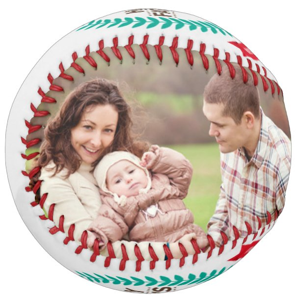 Personalized Photo Baseball Gift-B1007-Happy Father's Day-BEST TEXT IN THE WORLD-2021