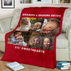 Lovely Christmas Blanket for Grandparents Personalized - GFI0007P2