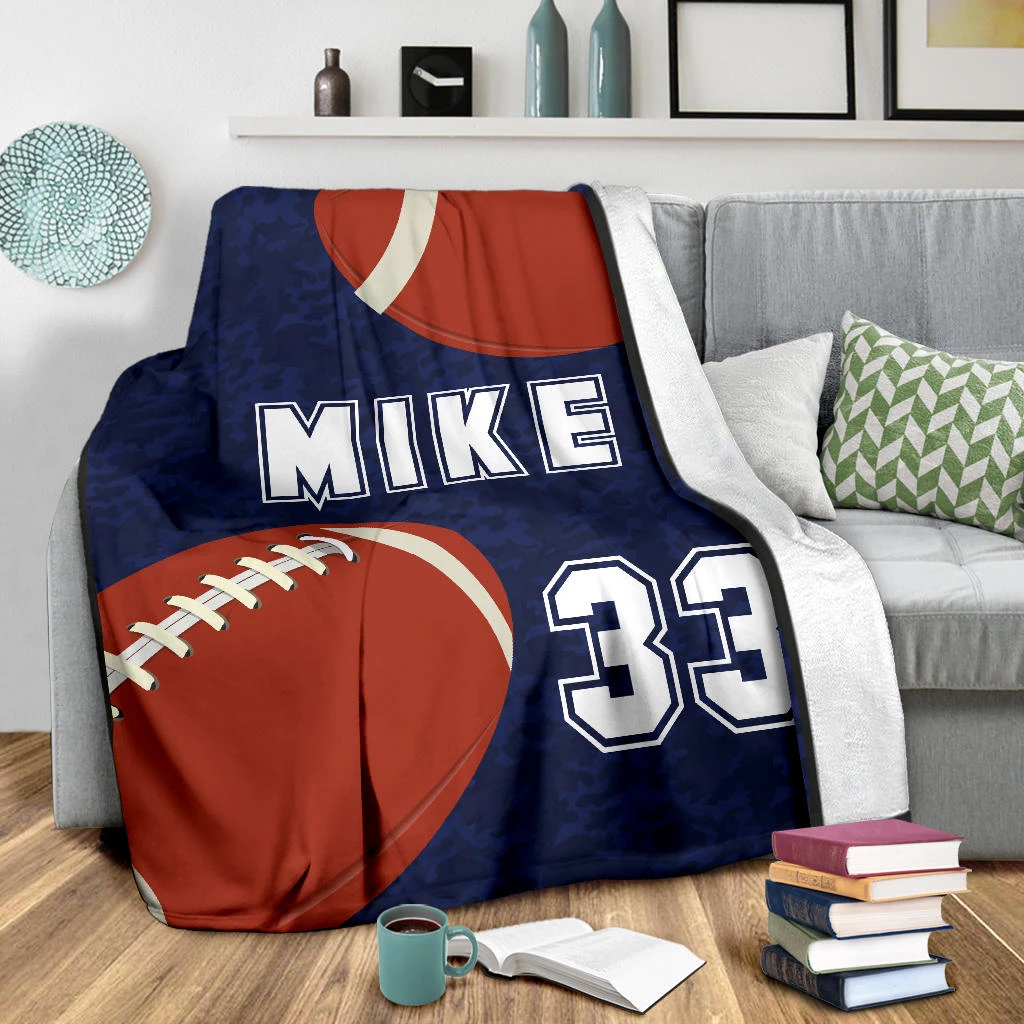 Football Personalized Blanket - GFI0002P1