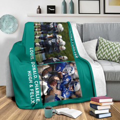 Lovely Football Blanket for Friends Personalized - GFI0002P2b
