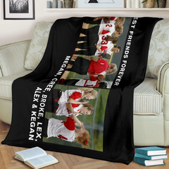 Lovely Christmas Blanket for Friends Personalized - GFI0007P5