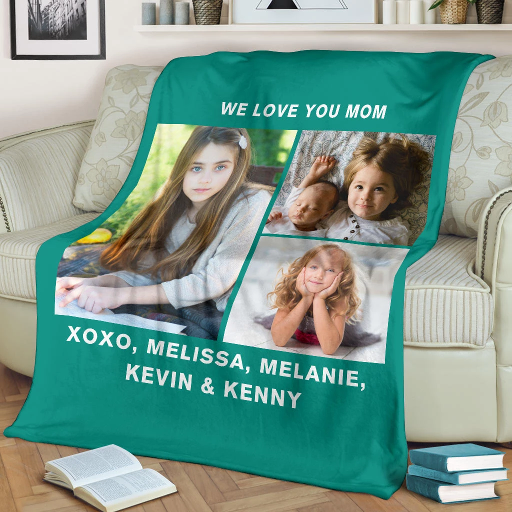 Lovely Christmas Blanket for Mom Personalized - GFI0007P3