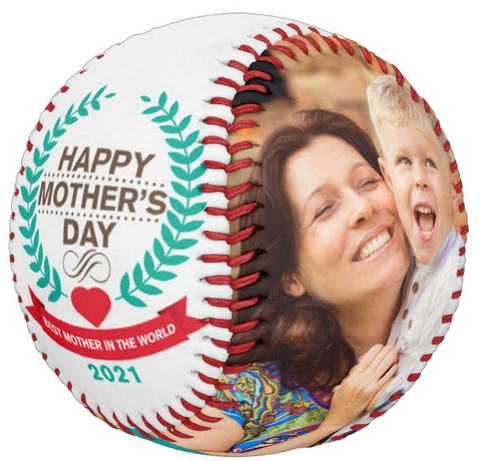 Personalized Photo Baseball Gift-B1008-Happy Mother's Day-BEST MOTHER IN THE WORLD-2021