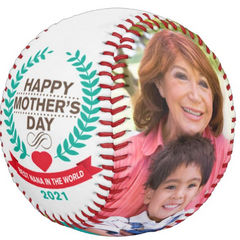 Personalized Photo Baseball Gift-B1010-Happy Mother's Day-BEST NANA IN THE WORLD-2021