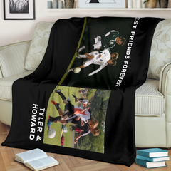Lovely Soccer Blanket for Friends Personalized - GFI0003P2b