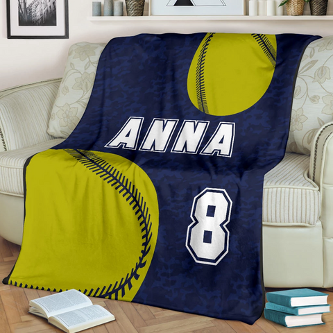 Softball Personalized Blanket - GFI0004P1