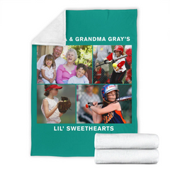 Lovely Softball Blanket for Grandparents Personalized - GFI0004P2c