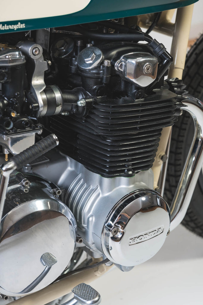 Apache Custom Honda CB 500 Four 1973 detail engine