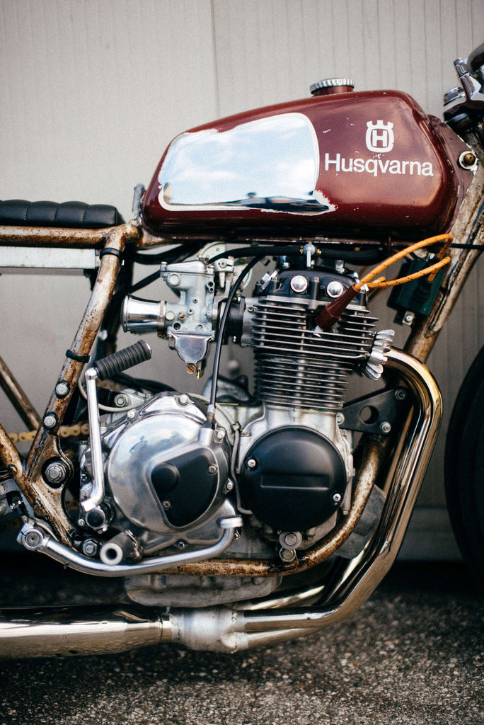 Apache Custom Motorcycles Honda CB 350 Four 1976 engine tank