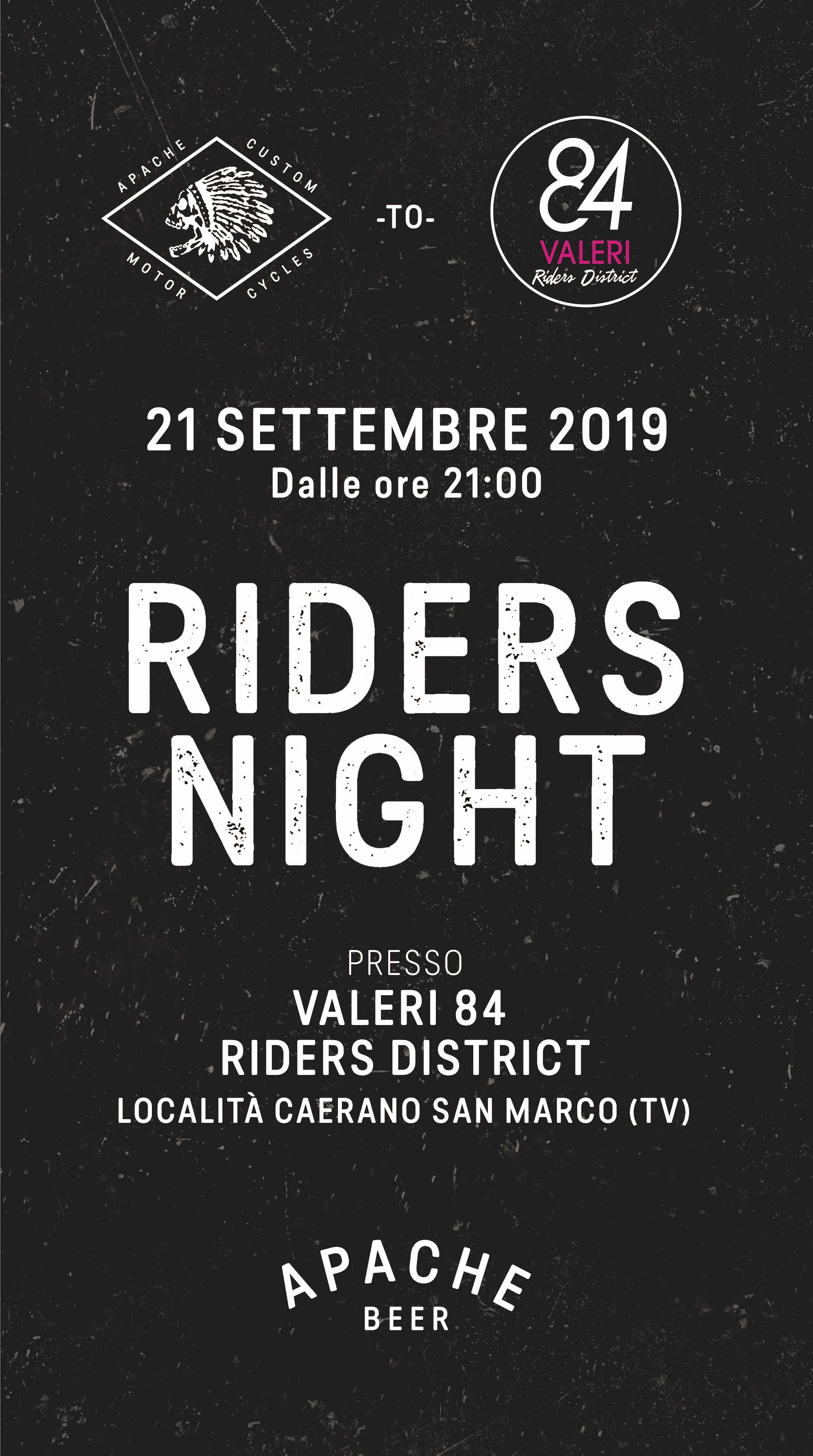 riders night 2019 apache custom motorcycles valeri 84 evento