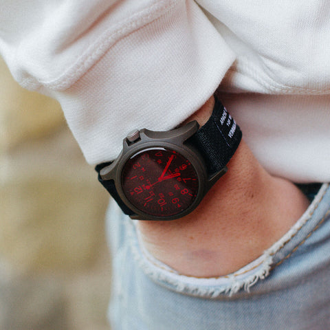 apache custom motorcycles orologio timex archive limited edition polso rosso small