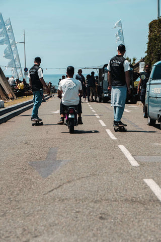 Biarritz Wheels and Waves 2019 Apache Customs Motorcycles skate