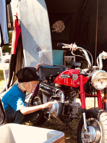 Wheels and Waves 2019 Biarritz Apache Customs stand