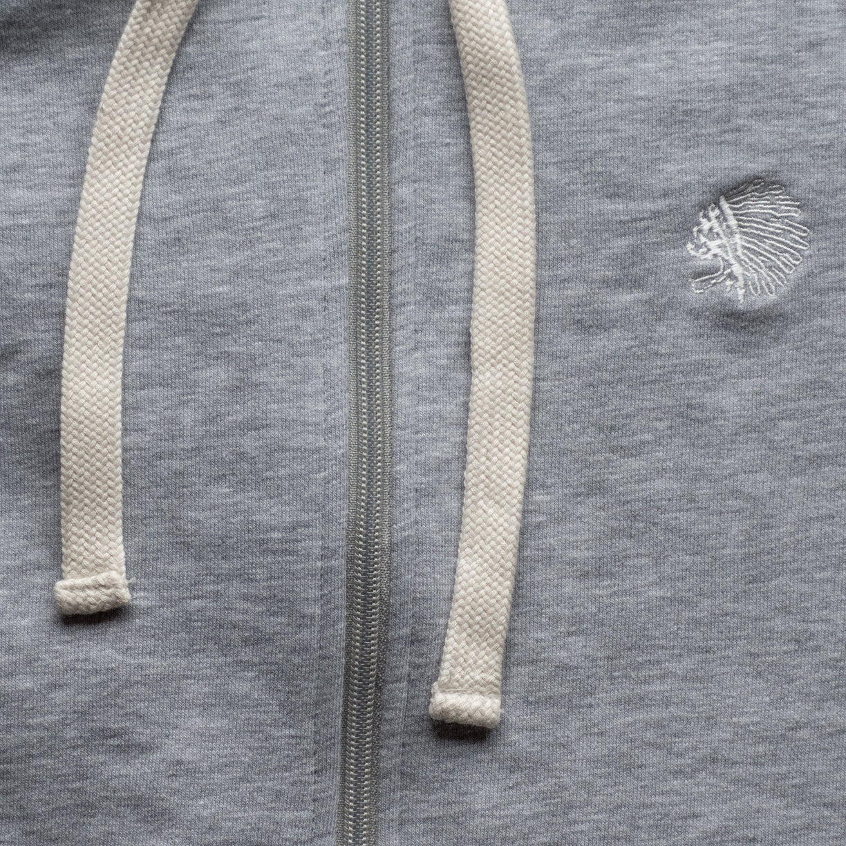 ZIP SWEATSHIRT - GRAY