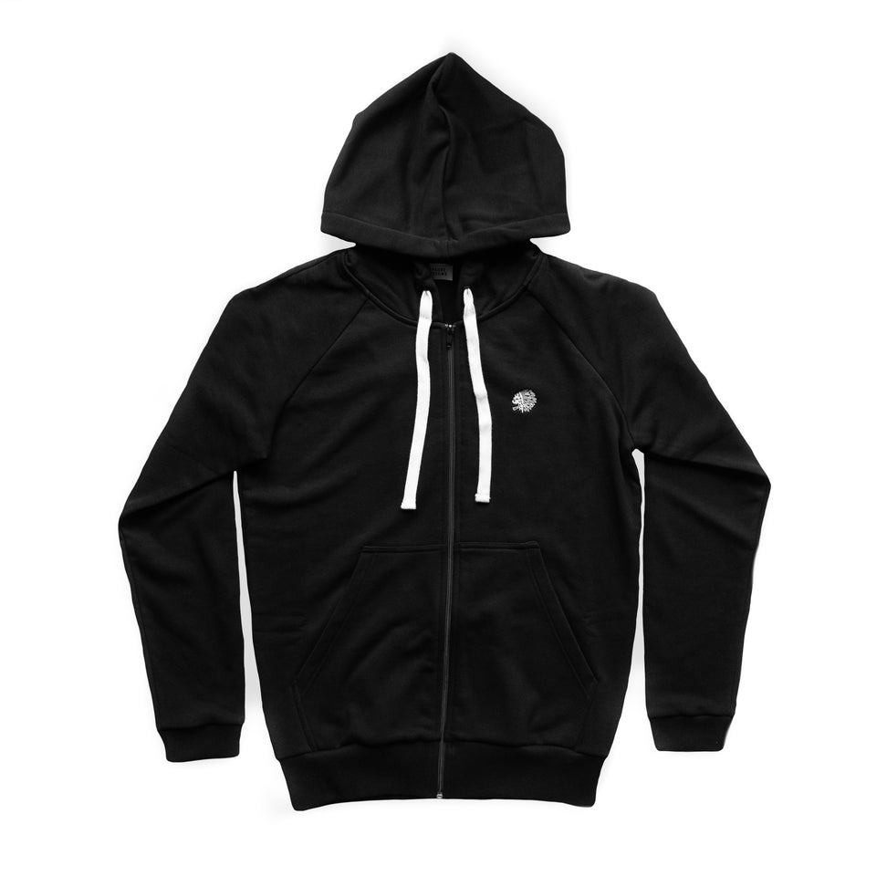 ZIP SWEATSHIRT - BLACK