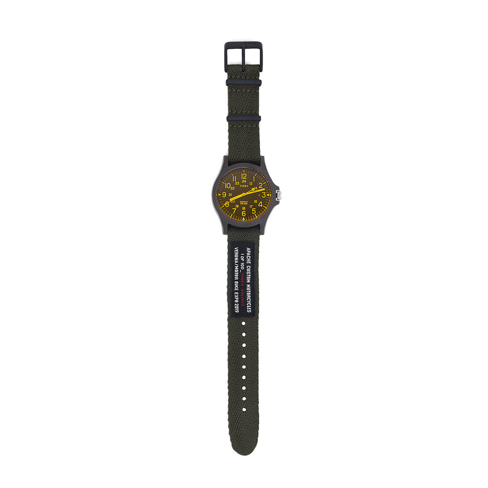 TIMEX LIMITED EDITION WATCH - YELLOW/GREEN