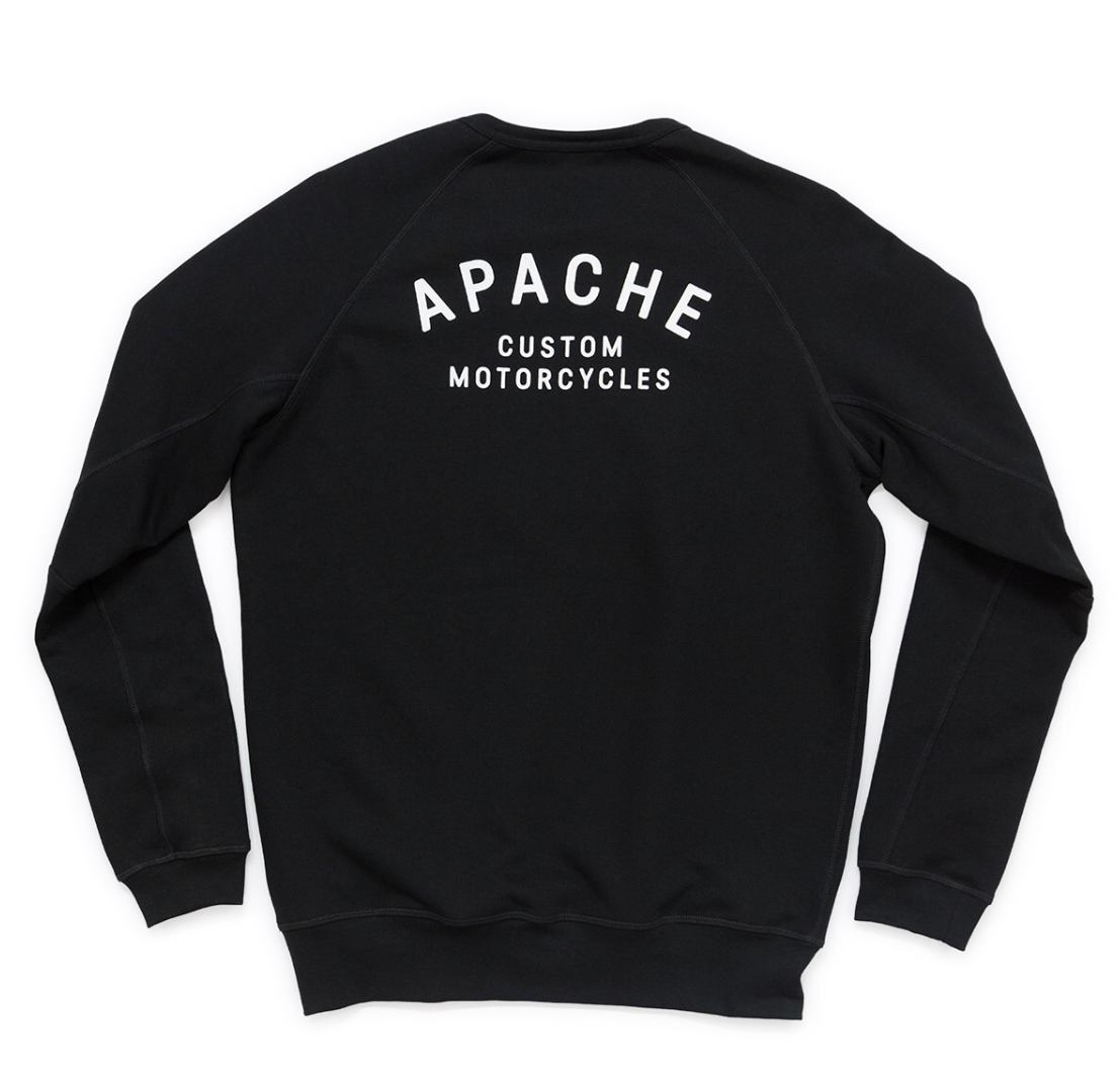 CREW SWEATSHIRT - BLACK