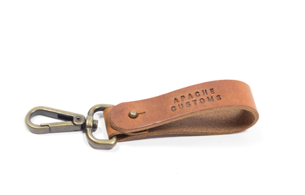 LEATHER KEYCLIP - BROWN