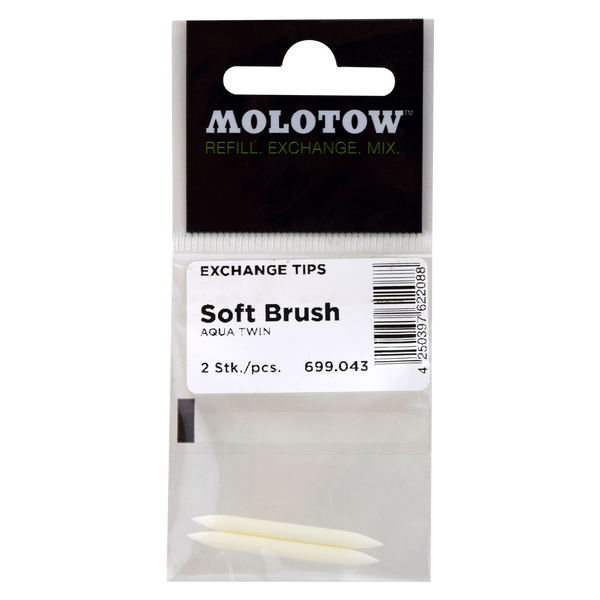 MOLOTOW BOLSA CON 2 PUNTAS SOFT BRUSH No.043