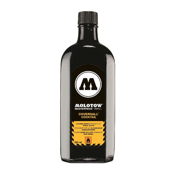 MOLOTOW REFILL COCKTAIL COVERSALL 250 ML. SIGNAL BLACK