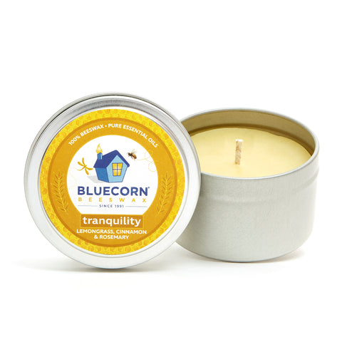 Beeswax Candle Travel Tin - Aromatherapy Candle - Tranquility Scent