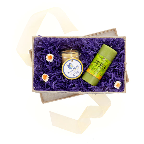 Beeswax Candle Gift Set - Natural Beeswax Candle Set