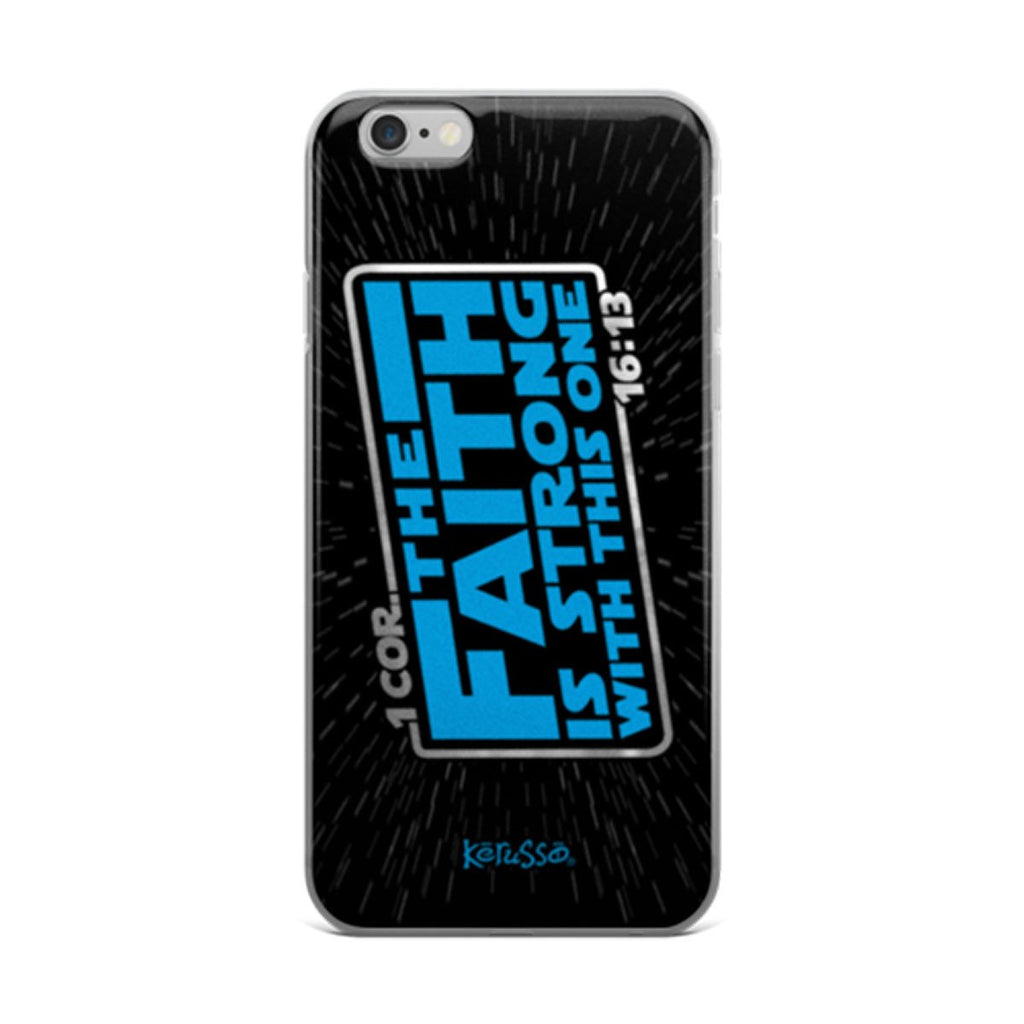 Faith is Strong iPhone Case