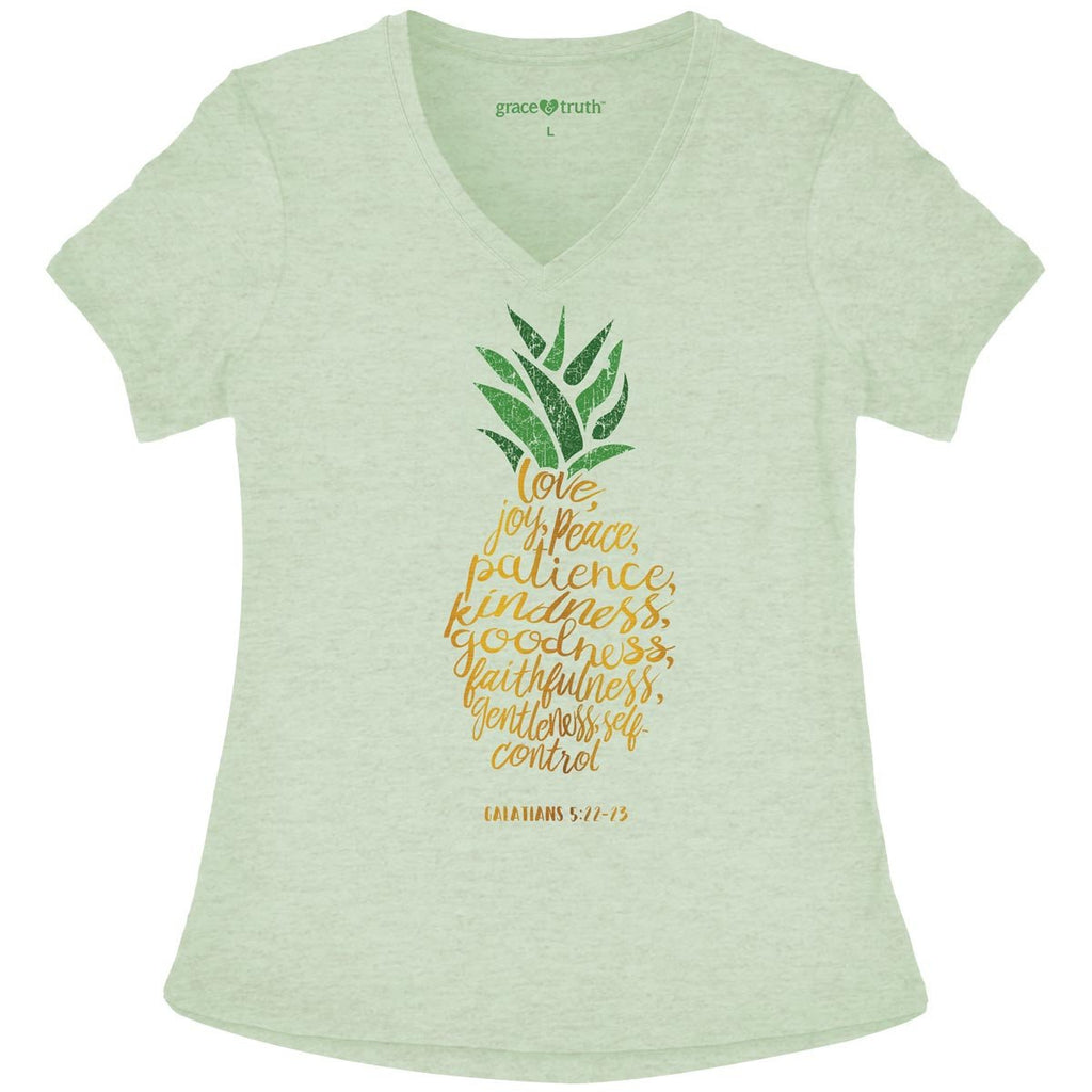 Pineapple V-Neck Women's T-Shirt ™