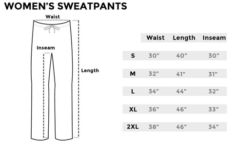 Size chart womens sweatpants inkaddict