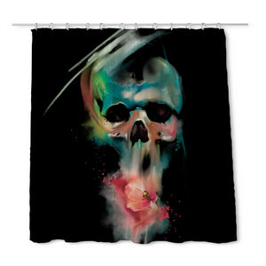 Nordine Skull Shower Curtain