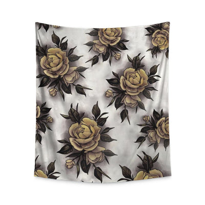 Hume Yellow Rose Wall Tapestry Indoor