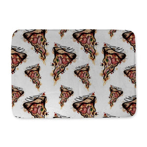 Kristel Pizza Bath Mat