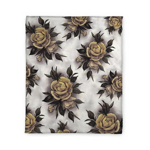 Hume Yellow Rose Fleece Blanket