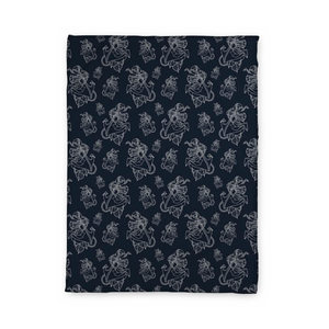 Timmy B Anchor-Outline Fleece Blanket
