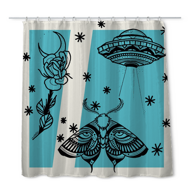 Aldridge Moth Shower Curtain