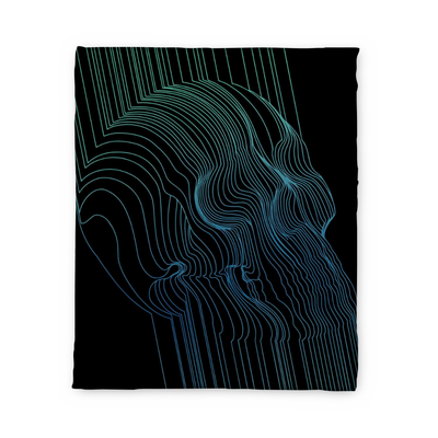 Fults Skull II Fleece Blanket