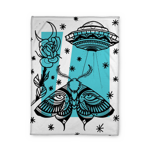 Aldridge Moth Fleece Blanket