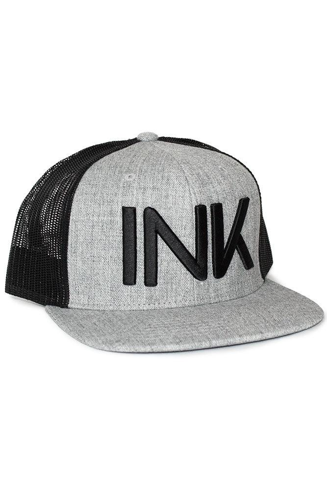 INK Grey/Black Flat Bill Trucker