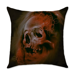 Eckenberger Skull Square Throw Pillow
