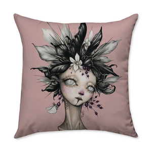 Hathaway Lady II Square Throw Pillow