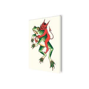 Mike Cann Trippy Frog Canvas