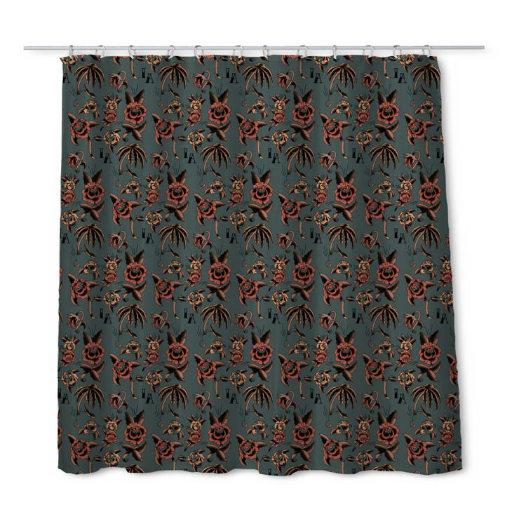 InkAddict Dead Rose Shower Curtain