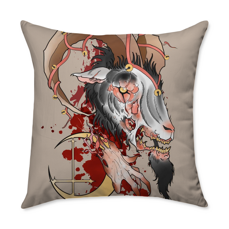 Matty Darkside Square Throw Pillow