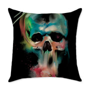 Nordine Skull Square Throw Pillow