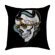 Avitia Skull Square Throw Pillow