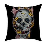 Chavez Skull Square Throw Pillow