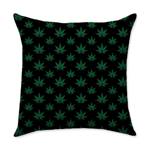 Haney Leaf Square Throw Pillow