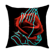 Lopes Rose Square Throw Pillow