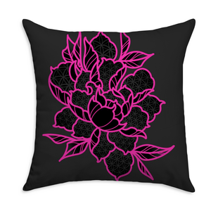 Mclone Flower Square Throw Pillow