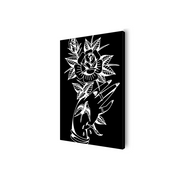 Young Thorn Black and White Canvas